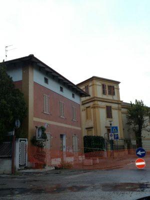 Palazzine inagibili in viale Vittorio Veneto