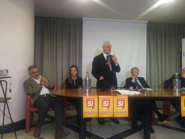 Da sinistra Vando Scheggia, Valentina Vezzali, Marcello Pera e