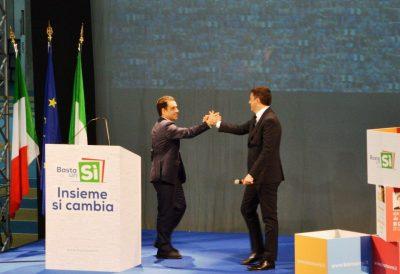 Francesco Comi e Matteo Renzi