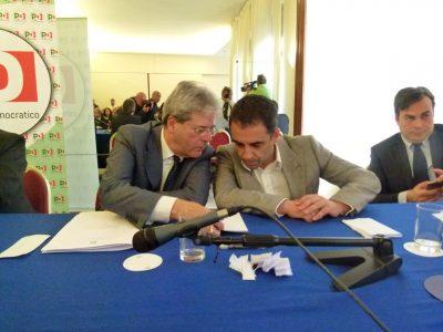 Francesco Comi con Paolo Gentiloni
