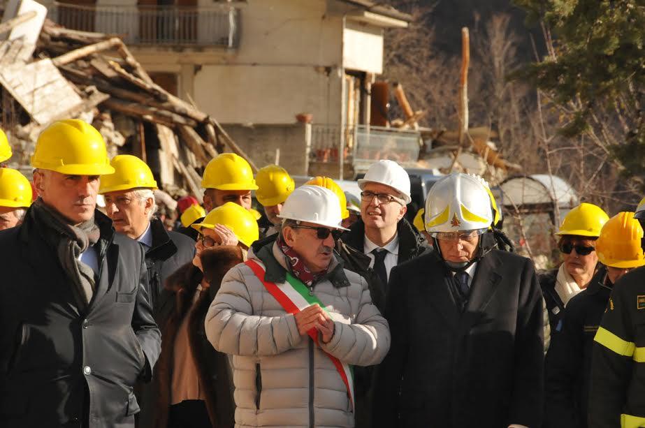 Sergio Mattarella visita le zone terremotate