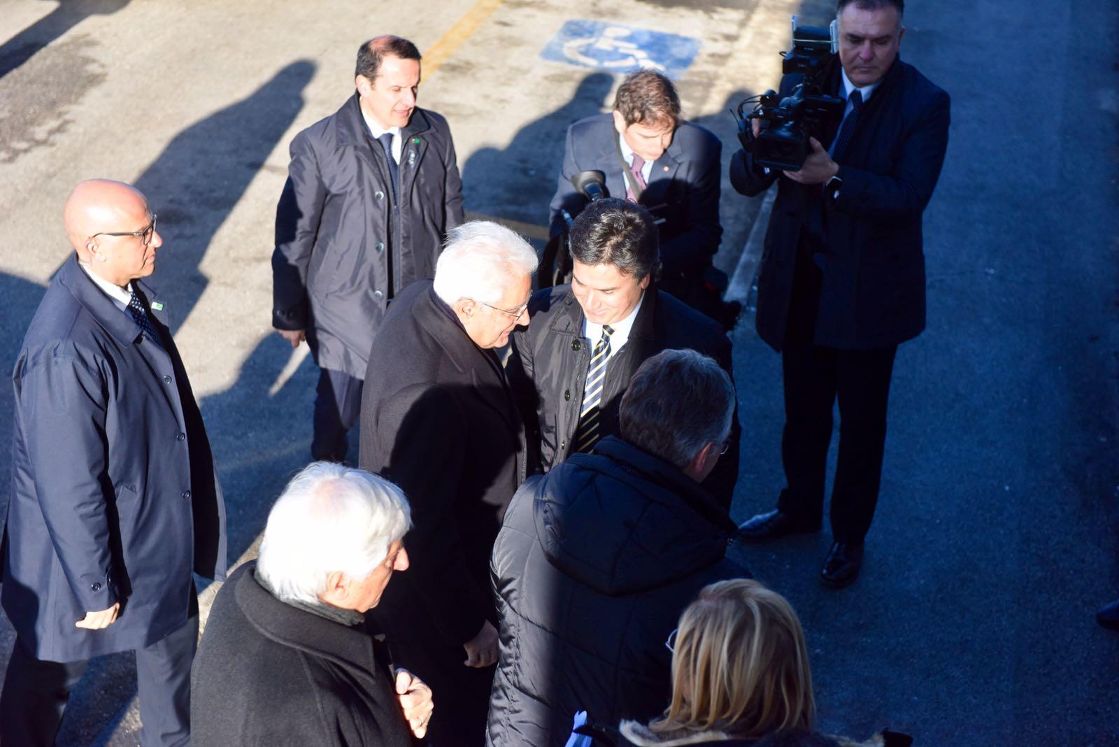 Mattarella a Camerino, incontra i sindaci