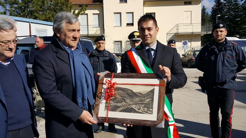 #Terremoto, il Presidente del Parlamento Europeo Tajani in visita a Campotosto
