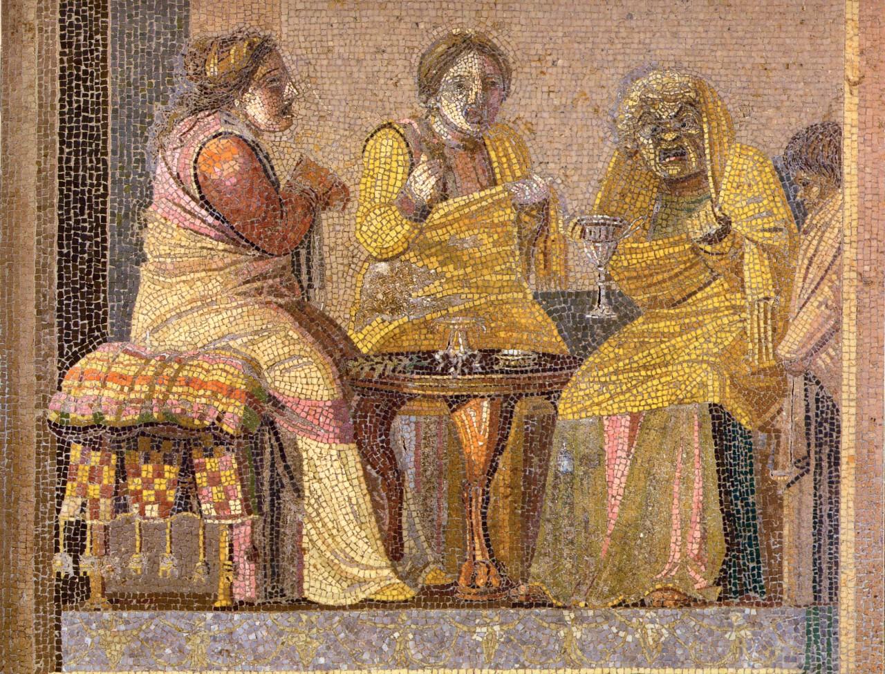 Pompeii_-_Villa_del_Cicerone_-_Mosaic_-_MAN