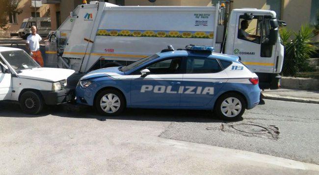 frontale-polizia-panda-via-spalato-via-roma