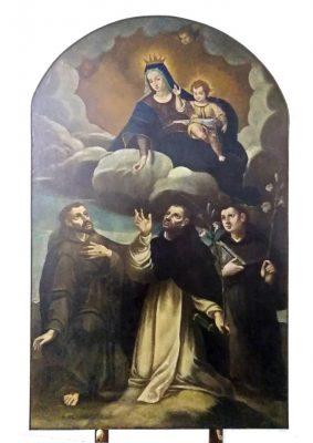 Tela-Madonna-con-Bambino-e-Santi