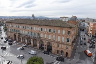 palazzo sforza comunale – comune vista panoramica dall'alto – civitanova – FDM
