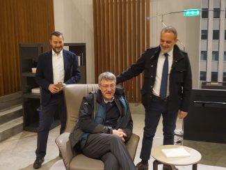 Maurizio-Landini-con-Sergio-Fabbri-e-Daniele-Pelliccioni