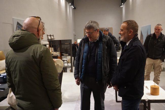 Maurizio-Landini-in-visita-al-Poltrona-Frau-Museum