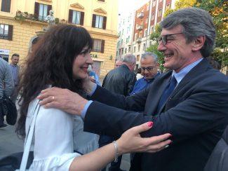 Bianca-Verrillo-con-David-Sassoli-eletto-nelle-lista-del-Pd
