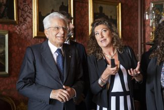 Presidente-Mattarella-con-Olimpia-Leopardi