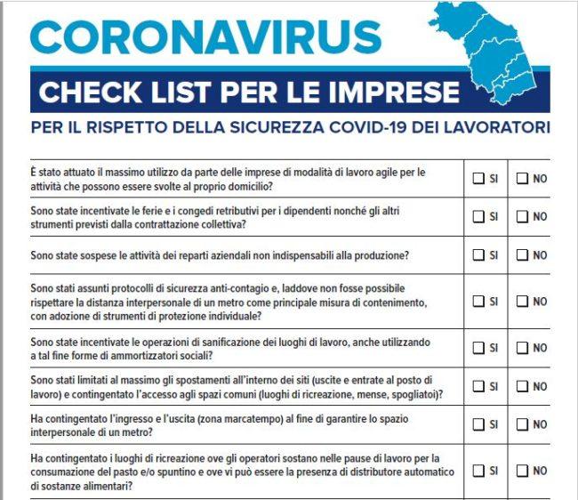 check-list-imprese-coronavirus
