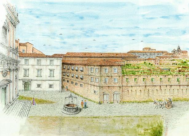 dis-G.-Pasquali-RICOSTRUZ-IPOTETICA-PIAZZA-S.-Giovanni-sec.-XVIII