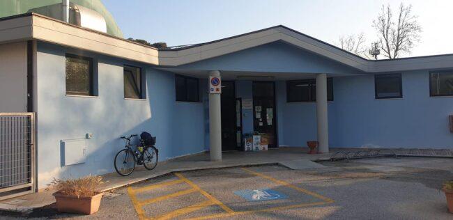 La sede sostitutiva in via Bronzini
