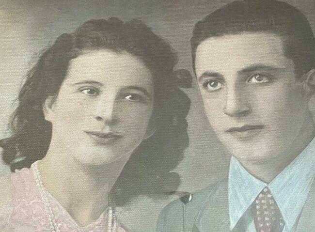 Laura-giorno-del-matrimonio-con-il-marito-Geremia