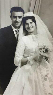 Mario e Luciana il giorno del matrimonio