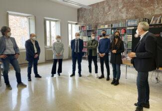 Prof-Andrea-Polini-Giorgio-Foglia-Rita-Soccio-Claudio-Pettinari-i-studenti-di-Unicam-Sindaco-Antonio-Bravi-