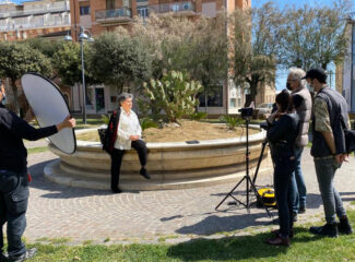 Le riprese di Tu che sei diversa a Porto Recanati