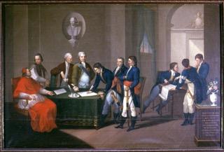 la-firma-del-Trattato-di-Tolentino-in-piedi-al-centro-Napoleone-Bonaparte