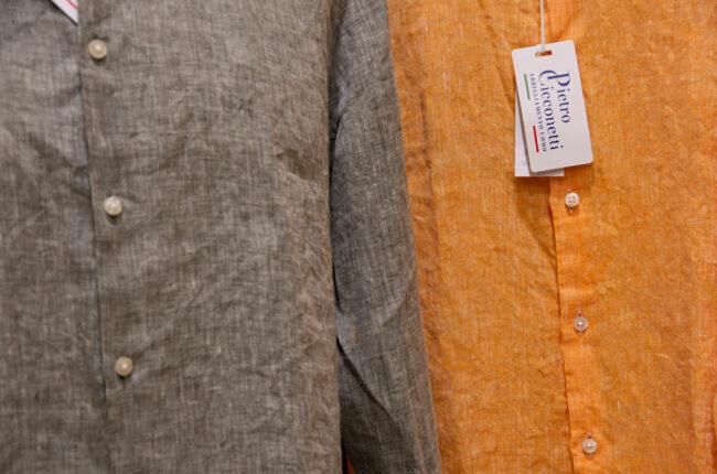Camicia-lino-colorata Pietro Cicconetti