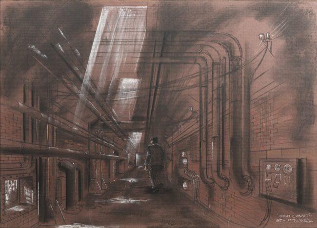 Dante-Ferretti_Into-the-tunnel_Hugo-Cabret_2012-650x468