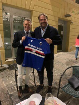 il-direttore-di-Giurisprudenza-Stefano-Pollastrelli-e-il-direttore-della-Samp-Daniele-Faggiano